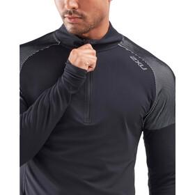 2XU GHST 1/2 Zip LS Shirt Men black/white